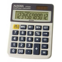 Aurora DT635 12-Digit Desktop Calculator