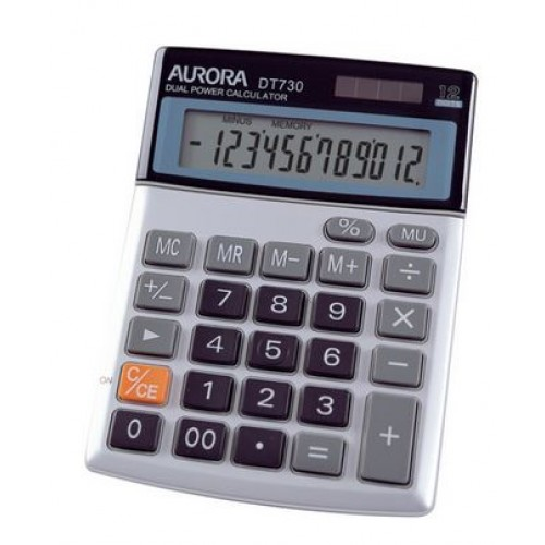 Aurora DT730 12-Digit Desktop Calculator
