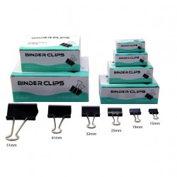 Binder Clips 15mm (Box of 12 pcs)