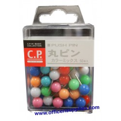Lemon 885567 Round Push Pin Coloured
