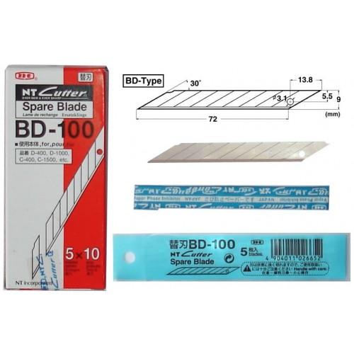 NT Cutter Spare Blade Bd100 30D