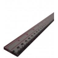 Hard Plastic Ruler 12Inch