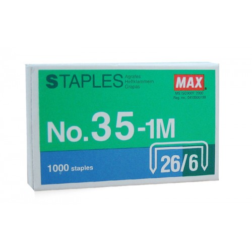 Max No.35-1m 26/6 Staple Pins