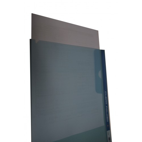 Kam K1301 Clear L-Folder with Flab (5s)