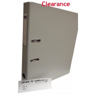 Yamano 2 Inch FS PVC Lever Arch File #05 Grey