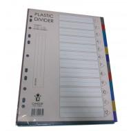 PP Plastic Colour Divider 12 tab