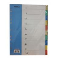 PP Plastic Colour Divider 10 tab