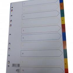 PP Plastic Colour Divider Nos.1-10