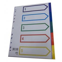 PP Plastic Colour Divider Nos.1-5