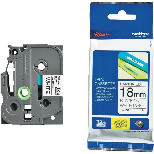 Brother TZe P-Touch 18mm Laminated Tape
