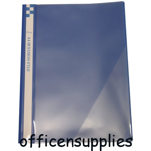 Flexi T6 A4 Business File With Front Insert (Blue)