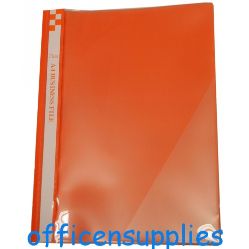 Flexi T6 A4 Business File With Front Insert (Orange)