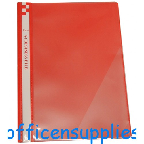 Flexi T6 A4 Business File With Front Insert (Red)