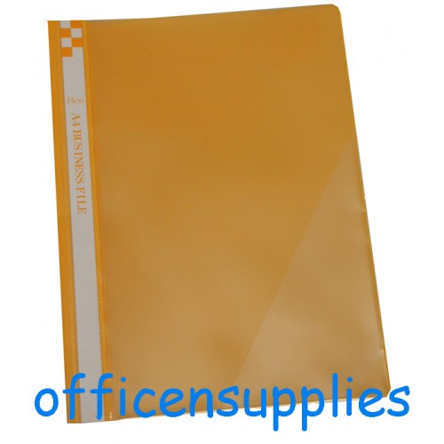 Flexi T6 A4 Business File With Front Insert (Yellow)