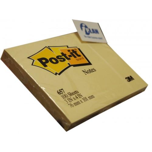 3M 657Y Post-it Note 3x4
