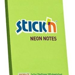 Hopax Stickn Neon Notes 3x2 inches (6 Pads)