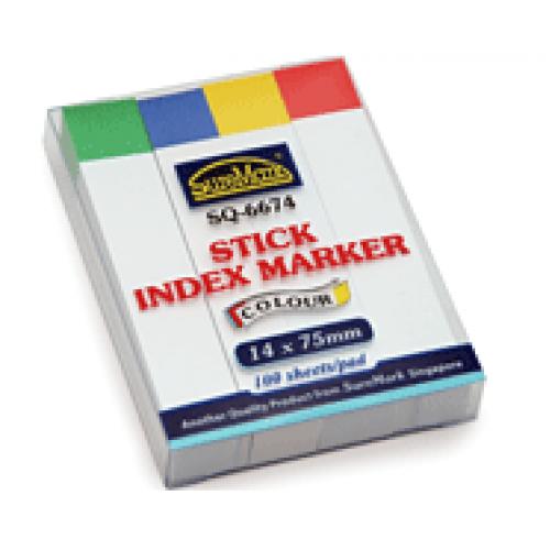 Suremark SQ6674 Stick Index Marker (14 x 75mm)