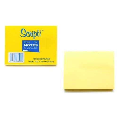 Scripti 30400C Stick-On NotePad 3X4