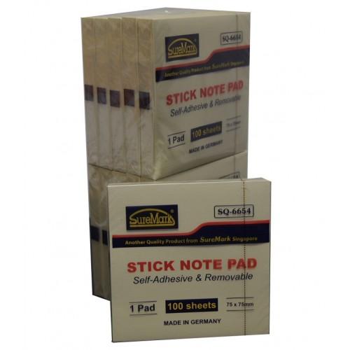 Suremark SQ6654 Stick Note Pad 3X3