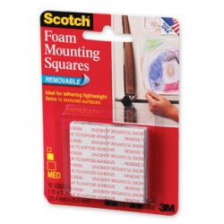 3M Scotch 108 Removable Mounting Squares *Discontinuing Soon