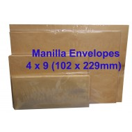 Envelope No.4X9M 4X9 Manila (box)