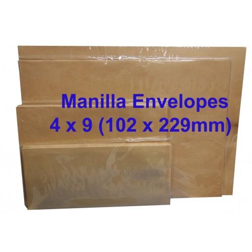 Envelope No.4X9M 4X9 Manila (box)