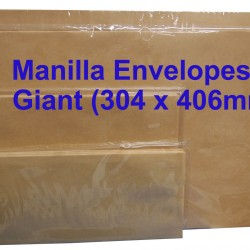 Envelope No.1216M Giant 12X16 Manilla (10s)