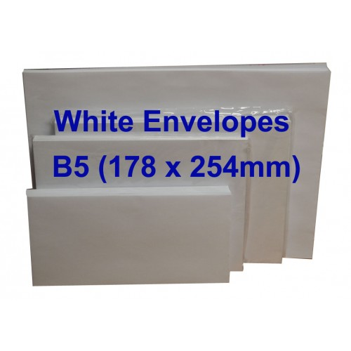 Envelope B5W 7X10 White (10s)