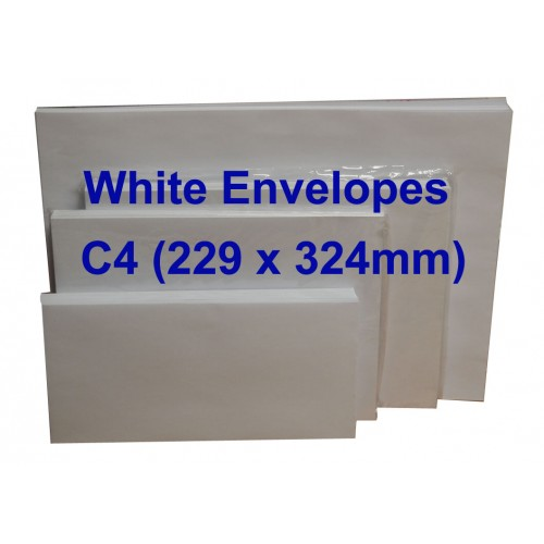 Envelope C4W 9X12-3/4 White (10s)