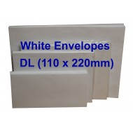 Envelope DL 110X220mm White (20s)