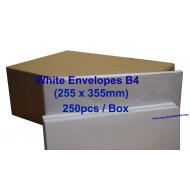 Envelope B4W 10X14 White (box)