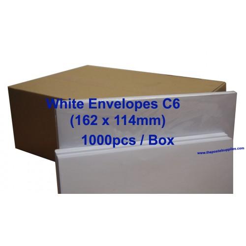 Envelope C6W 6 3/8 x 4 1/2 White (box)