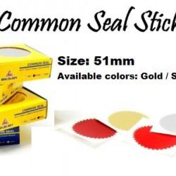 Common Seal Sticker - Diameter 51mm (100s per box)
