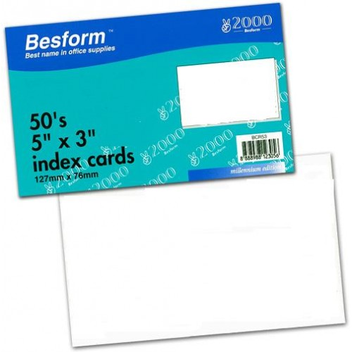 Besform BPC53 Plain Card (3 Packs)