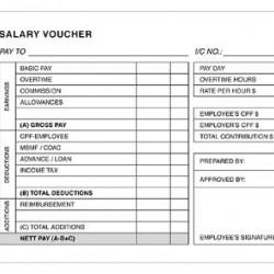 Salary Voucher Pad