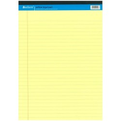 Yellow Legal/Exam Pad A4
