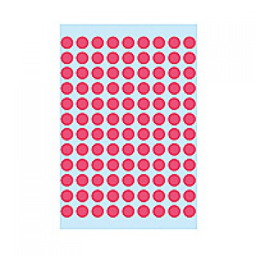 Herma 1846 08mm Col Dots - Lum.Red