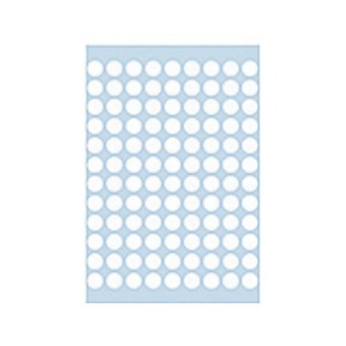 Herma 1840 08mm Col Dots - White