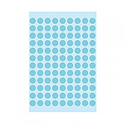 Herma 1843 08mm Col Dots - Blue