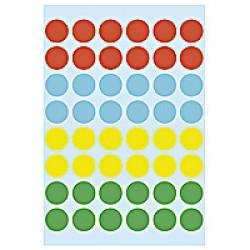Herma 1851 12mm Col Dots - Asrt Col