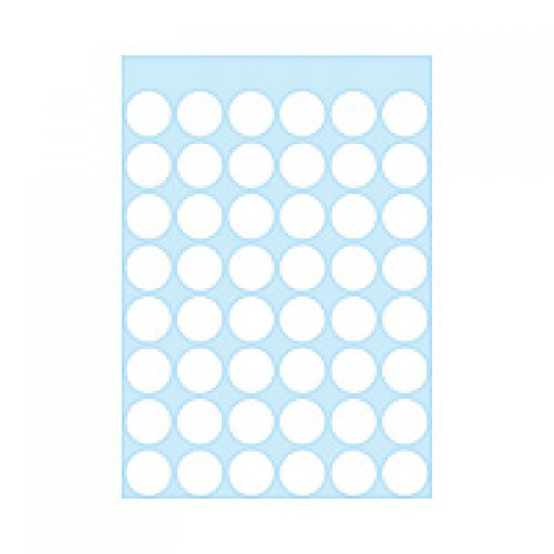 Herma 1860 12Mm Col Dots - White