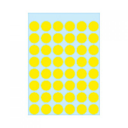 Herma 1861 12Mm Col Dots - Yellow