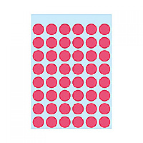 Herma 1866 12Mm Col Dots - Lum. Red