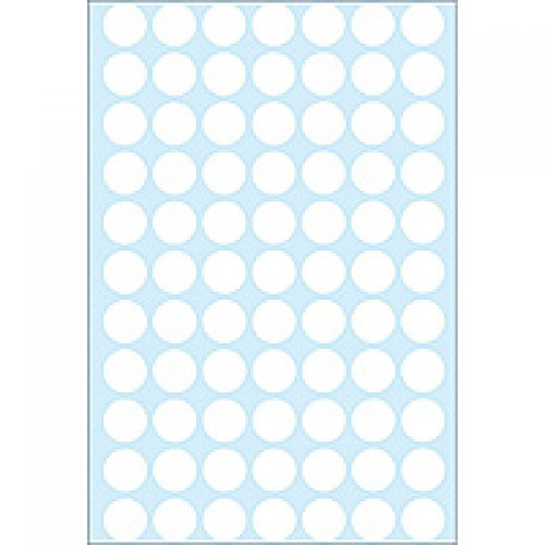 Herma 2230 13Mm Col Dots - White