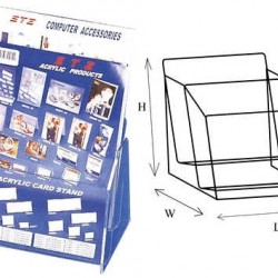 STZ 50831 2-tier Acrylic Leaflet Holder A4