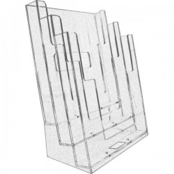 N71 A4 3-Tier Acrylic Stand