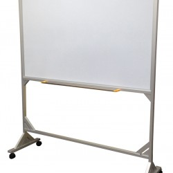 Mobile Magnetic Whiteboard - Aluminum Stand (Double) Ht: 1.8m