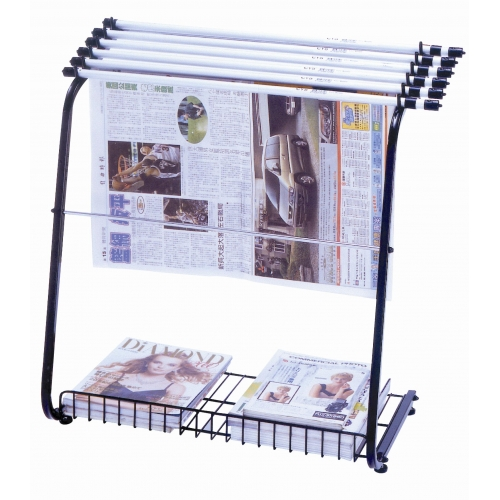 STZ Newspaper Rack with Hangers 42410