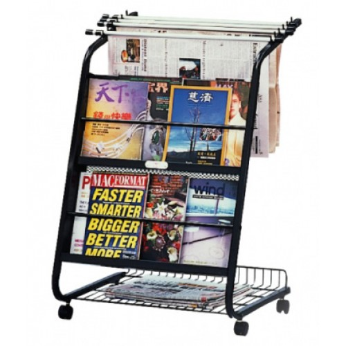 STZ Newspaper and Magazine Rack with Hangers 42412