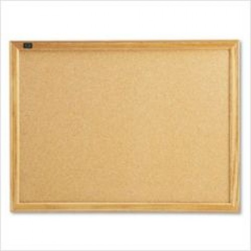 S208-90 Corkboard with Wooden Frame